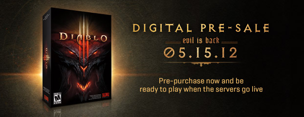 Diablo III Launching May 15 – Digital Pre-Sales NOW OPEN