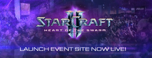 The Heart of the Swarm Launch Event Site