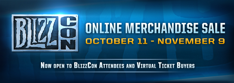 (Updated) BlizzCon® Store Online Sale Open Now Through November 9