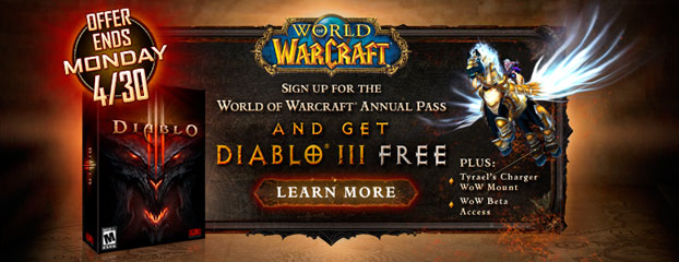 Reminder: WoW Annual Pass – Last Chance