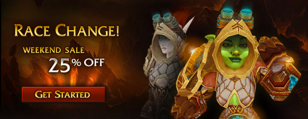 Weekend Sale – 25% Off Race Change