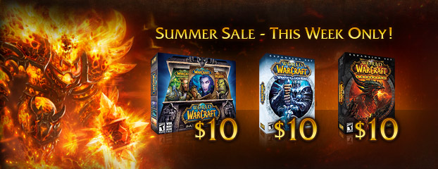 World of Warcraft $10 Sale – This Week Only
