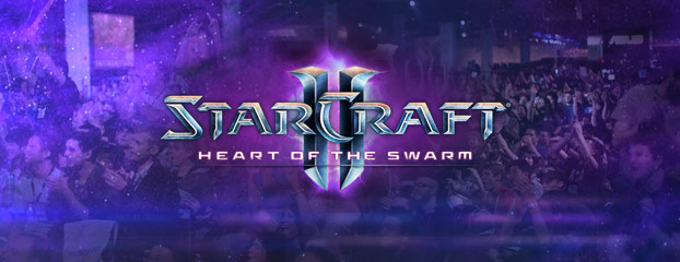 Página del evento de lanzamiento de Heart of the Swarm