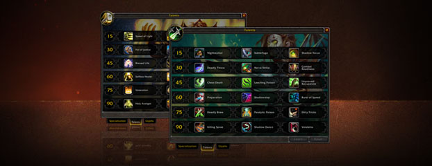 World of Warcraft Class Talent System