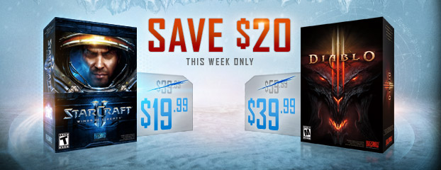 Blizzard Black Friday Offers – Save $20 on Diablo III and StarCraft II: Wings of Liberty