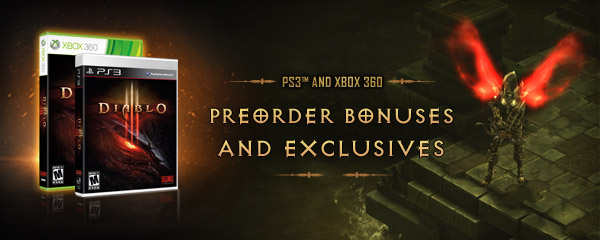 New Diablo® III Console Preorder Bonuses and Exclusives