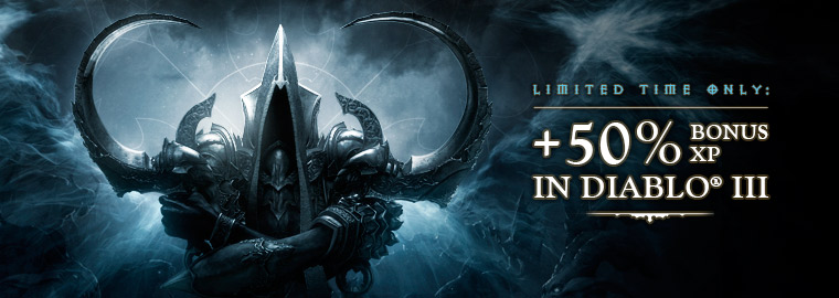 +50% Bonus XP in Diablo III – Limited Time Only