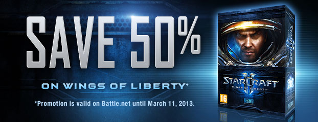 Save 50% on StarCraft II: Wings of Liberty — Limited Time Only