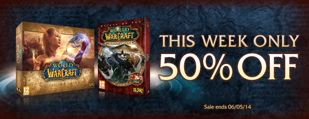 Save 50% on World of Warcraft and Mists of Pandaria