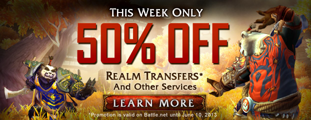This Week Only—All Character Services 50% Off