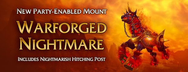 New Warforged Nightmare Mount—Now Available
