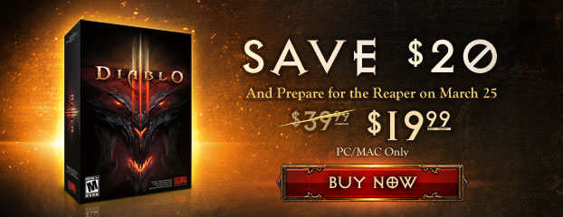Save 50% on diablo iii for windows and mac