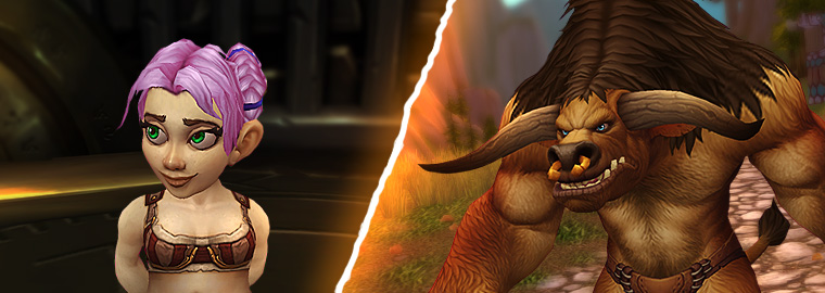 Character Viewer Updated: Female Gnome & Male Tauren!