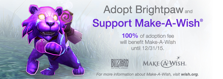 Adopt Brightpaw Now for Make-A-Wish®