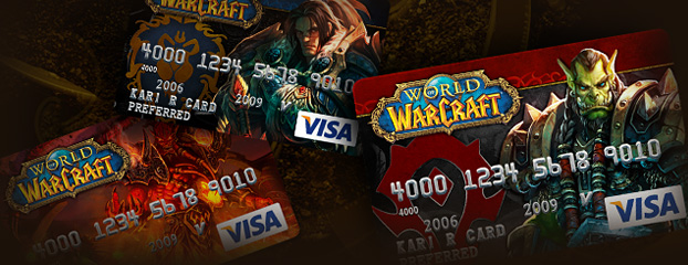 New Designs for World of Warcraft Visa Card