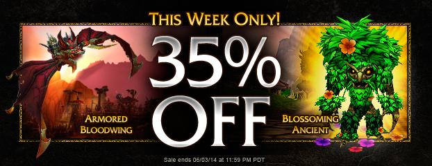 Sale Ended – 35% Off Armored Bloodwing and Blossoming Ancient