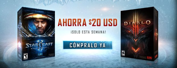 Descuentos de temporada para Diablo III y StarCraft II: Wings of Liberty