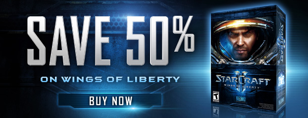 Save 50% on StarCraft II: Wings of Liberty—Limited Time Only