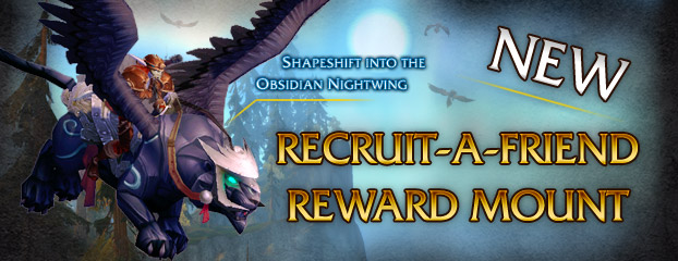 New Recruit-A-Friend Mount – Obsidian Nightwing