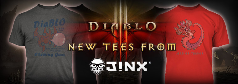 All New Diablo J!NX Apparel Now Available