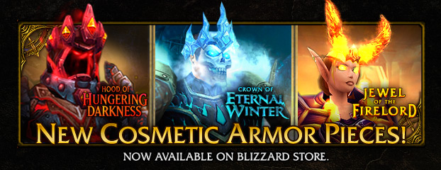 Cosmetic Armor Pieces—Now Available on Blizzard Store