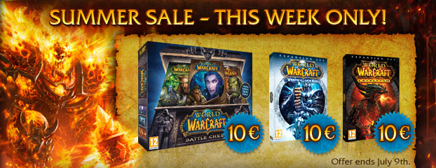 World of Warcraft €10 Summer Sale – This Week Only