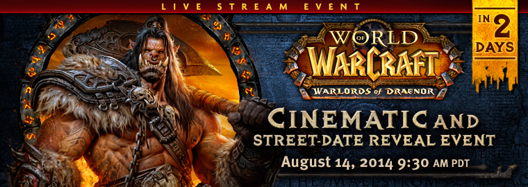 Don't Forget: Watch the Warlords of Draenor Live Stream Here This Thursday!