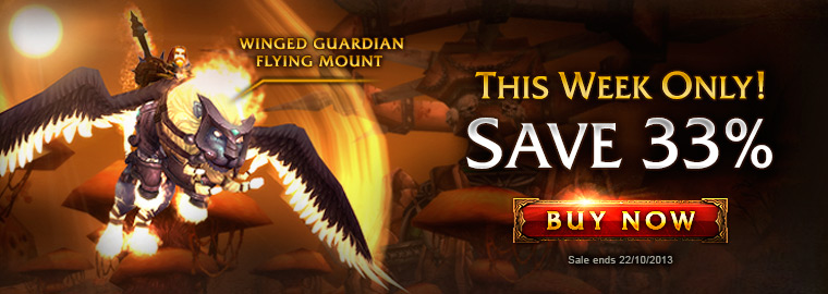 33% Off Winged Guardian Mount—This Week Only