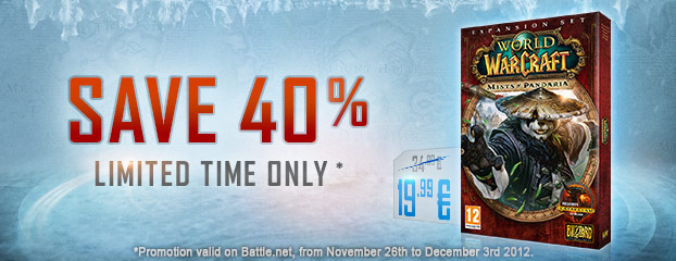 Save 40% on Mists of Pandaria – Only 19.99 €* Until December 3rd.