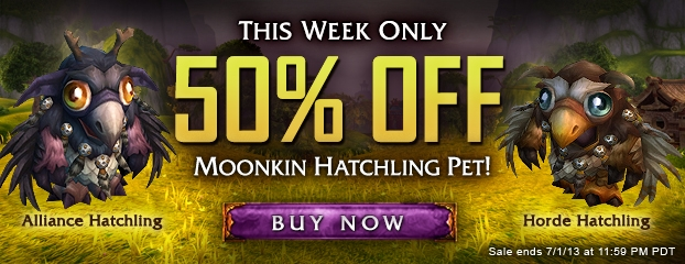 50% Off Moonkin Hatchling Pet—This Week Only