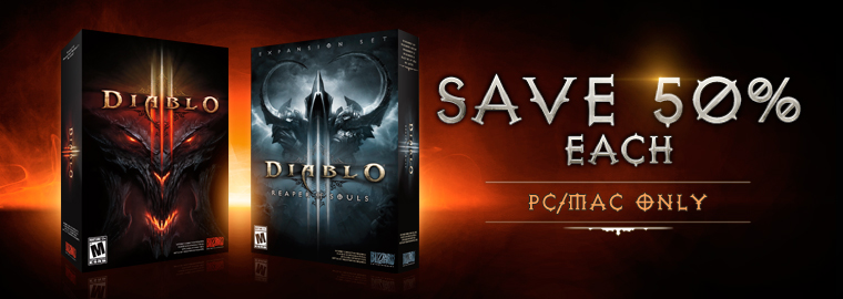 Save 50% on Diablo III and Reaper of Souls