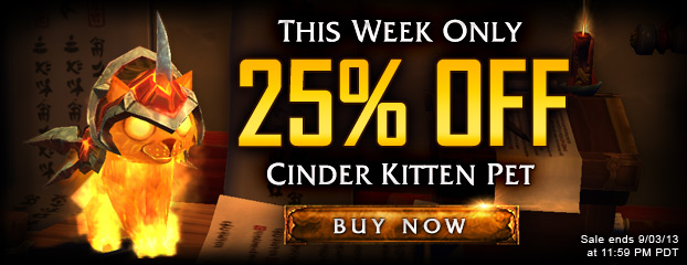 25% Off Cinder Kitten Pet—This Week Only
