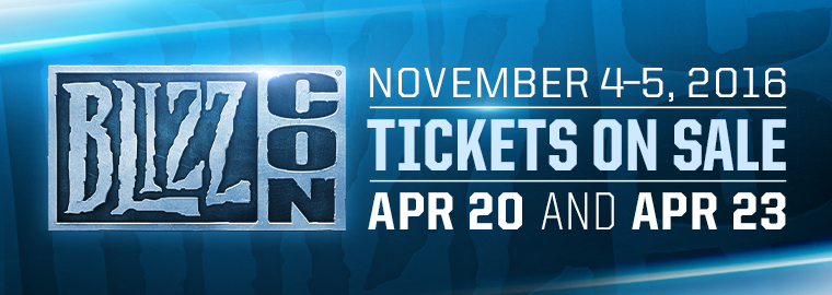 Get Ready to Raid BlizzCon® 2016 November 4 and 5
