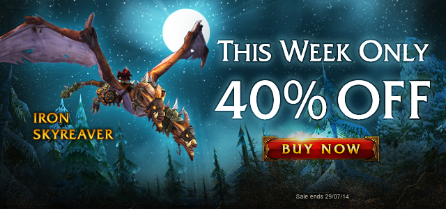Ride the Iron Skyreaver—40% Off This Week Only