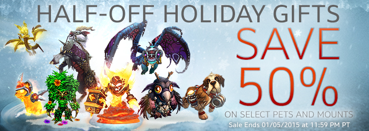 Spread Some Winter Veil Cheer -- Gift a Pet or Mount and Save 50%
