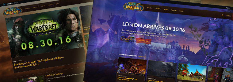 Aperçu du nouveau site de World of Warcraft