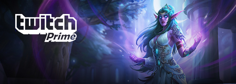 Try Twitch Prime and Get Tyrande Whisperwind!