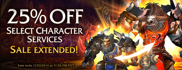 Save 25% on Select Character Services—Sale Extended