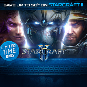 Save up to 50% on StarCraft II