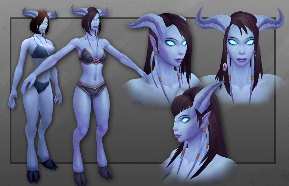 Новые модели, Дреней- женщина. : World of Warcraft