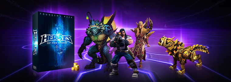 Get Started in Heroes of the Storm Now with the Founder's Pack!