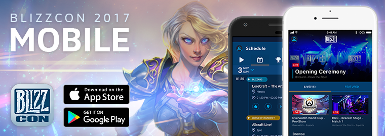 Download the 2017 BlizzCon® Mobile App Now