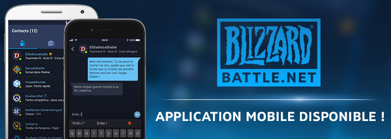 L'application mobile Blizzard Battle.net est disponible !