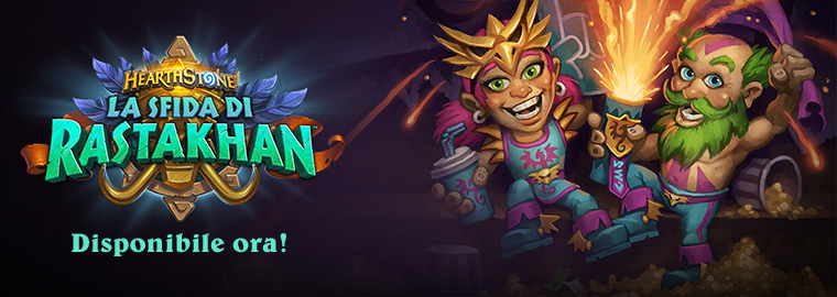 La sfida di Rastakhan è ora disponibile!