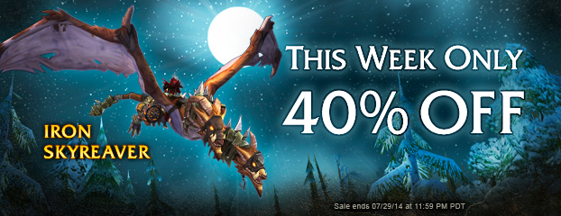 Ride the Iron Skyreaver - 40% Off This Week Only