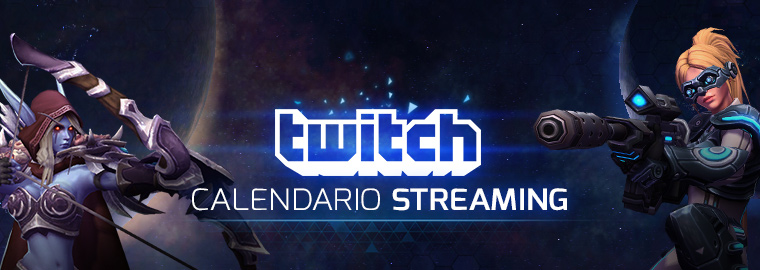 Calendario dello streaming di Twitch