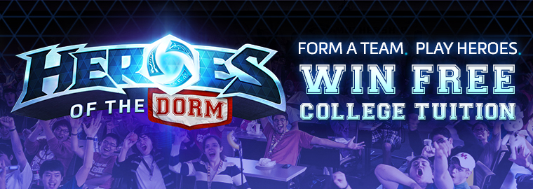 "Students Battle for Free College Tuition in Blizzard's ""Heroes of the Dorm™"" Tournament"