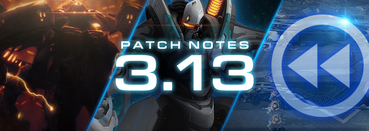 Notas do Patch 3.13.0 do StarCraft II: Legacy of the Void