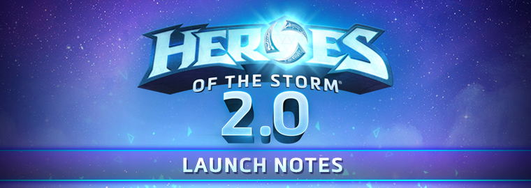 Notas do lançamento do Heroes of the Storm 2.0 - 25 de abril de 2017