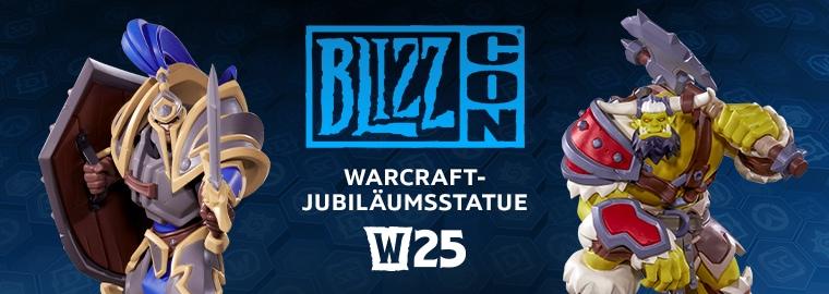 Wir feiern 25 Jahre Warcraft mit der Warcraft-Jubiläumsstatue zur BlizzCon 2019